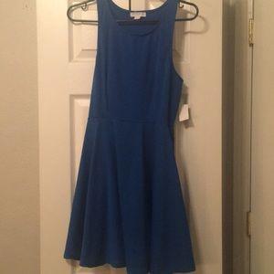 Turquoise blue sun dress.